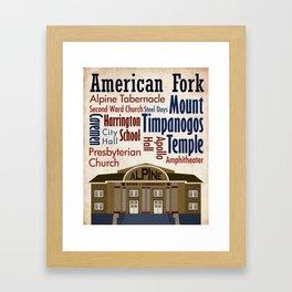 Travel - American Fork Framed Art Print