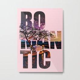 Romantic Dinner Typography Digital Painting Metal Print