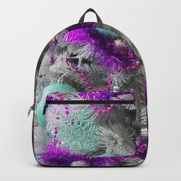 Christmas tree violet with mint Backpack