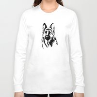 german Long Sleeve T-shirts featuring German Shepherd by JonathanStephenHarris