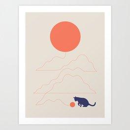 Cat Landscape 41 Art Print