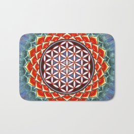 Flower Of Live - Red Lotus Bath Mat