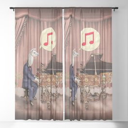 LA-LA-LA-Llama! Sheer Curtain