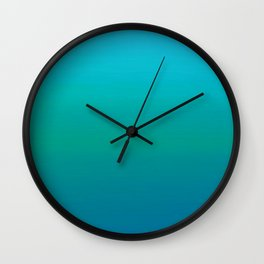 Ombre, Blue to Teal Wall Clock