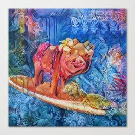 Beyond the Surf Canvas Print