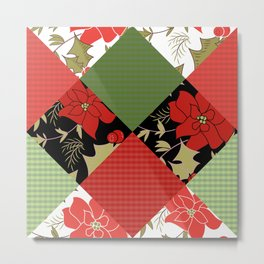 Patchwork, Christmas 1 Metal Print