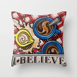 I.Believe|Coffee Throw Pillow