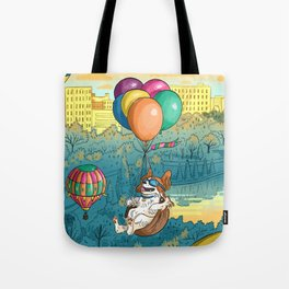 Hot Air Balloons Over Forest Park Tote Bag
