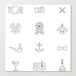 Hipster's Day Canvas Print