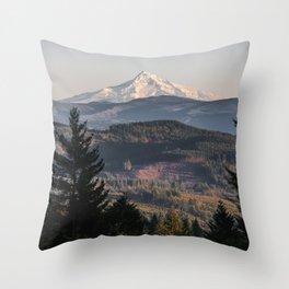 PNW Mount Hood Adventure II Throw Pillow