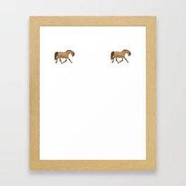 Stay in Your Lane Disqualified Horse Framed Art Print