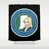 parks Shower Curtains featuring Parks & Rec. by BlackRose Designs