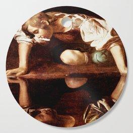 Michelangelo Merisi da Caravaggio, Narcissus at the Source, oil on canvas, 1597-99 Cutting Board