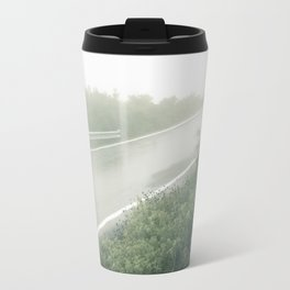 Foggy Incline: Corfu, Greece. Travel Mug