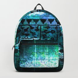 Dark Blue Abstract Celtic Backpack