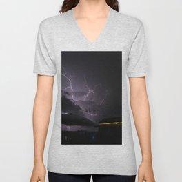 Country Lightning Unisex V-Neck