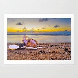 Coconut Beach Art Print