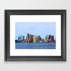 City of Boston Close up Framed Art Print