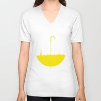 himym V-neck T-shirts featuring Yellow umbrella by Beitebe