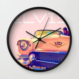 Elvis Presley Pink Cadillac Album Wall Clock