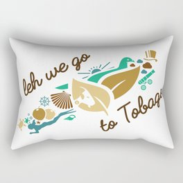 Leh We Go To Tobago Rectangular Pillow