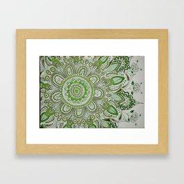 Green Flower  Framed Art Print