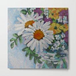 Wildflowers in a Jar Metal Print