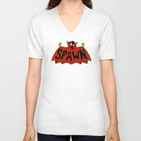 spawn V-neck T-shirts featuring Hell's monster by Buby87
