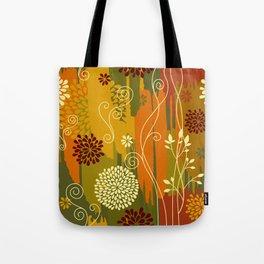 Boho Floral Pattern Tote Bag