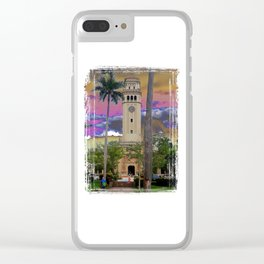 University of Puerto Rico - Main tower Rio Piedras Clear iPhone Case