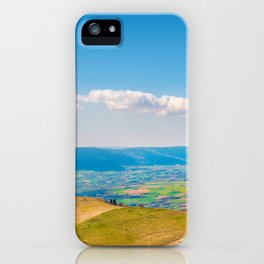 French rolling landscape hill mountain large panorama iPhone Case
