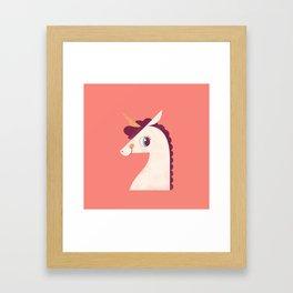 Minimal Unicorn Framed Art Print
