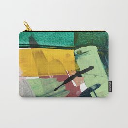 Hopeful[3] - a bright mixed media abstract piece Carry-All Pouch