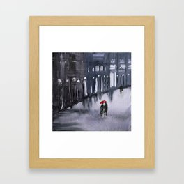 Red Umbrella Framed Art Print