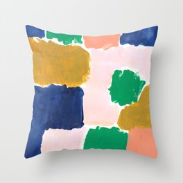 Shel - abstract painting boho modern bright minimal color palette gender neutral dorm college decor Throw Pillow