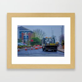 Roadworks, where do they end? - Coventry, England Framed Art Print