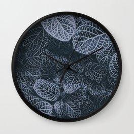 Ominous Leaves Wall Clock