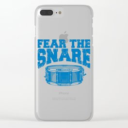 Fear The Snare Clear iPhone Case