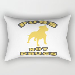 PUGS NOT DRUGS Rectangular Pillow
