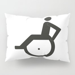 A sign for the toilet, invalid Pillow Sham