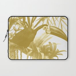 Toucans and Bromeliads - Spicy Mustard Laptop Sleeve