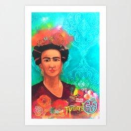 Frida Fragil y fuerte Art Print