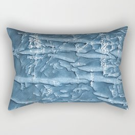 Dark slate blue nebulous watercolor texture Rectangular Pillow