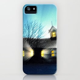 Abandoned Church within the Scituate Reservoir - Scituate, Rhode Island Landscape by Jeanpaul Ferro iPhone Case