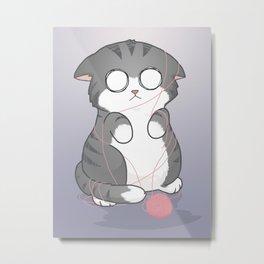 Cute Tangled Kitty Metal Print