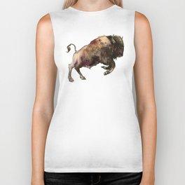 Bison, Bull, animal woodland, bison art, wildlife design Biker Tank
