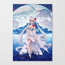 Sailor Moon Crystal Princess Serenity SILVER HAIR Canvas Print