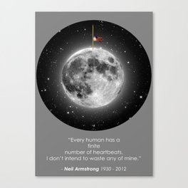 Neil Armstrong Flag at Half-Mast Canvas Print