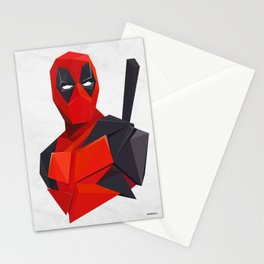 DeadPooLow-Poly Stationery Cards