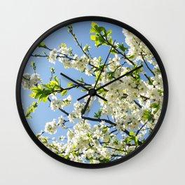 Blooming apple tree 2 Wall Clock